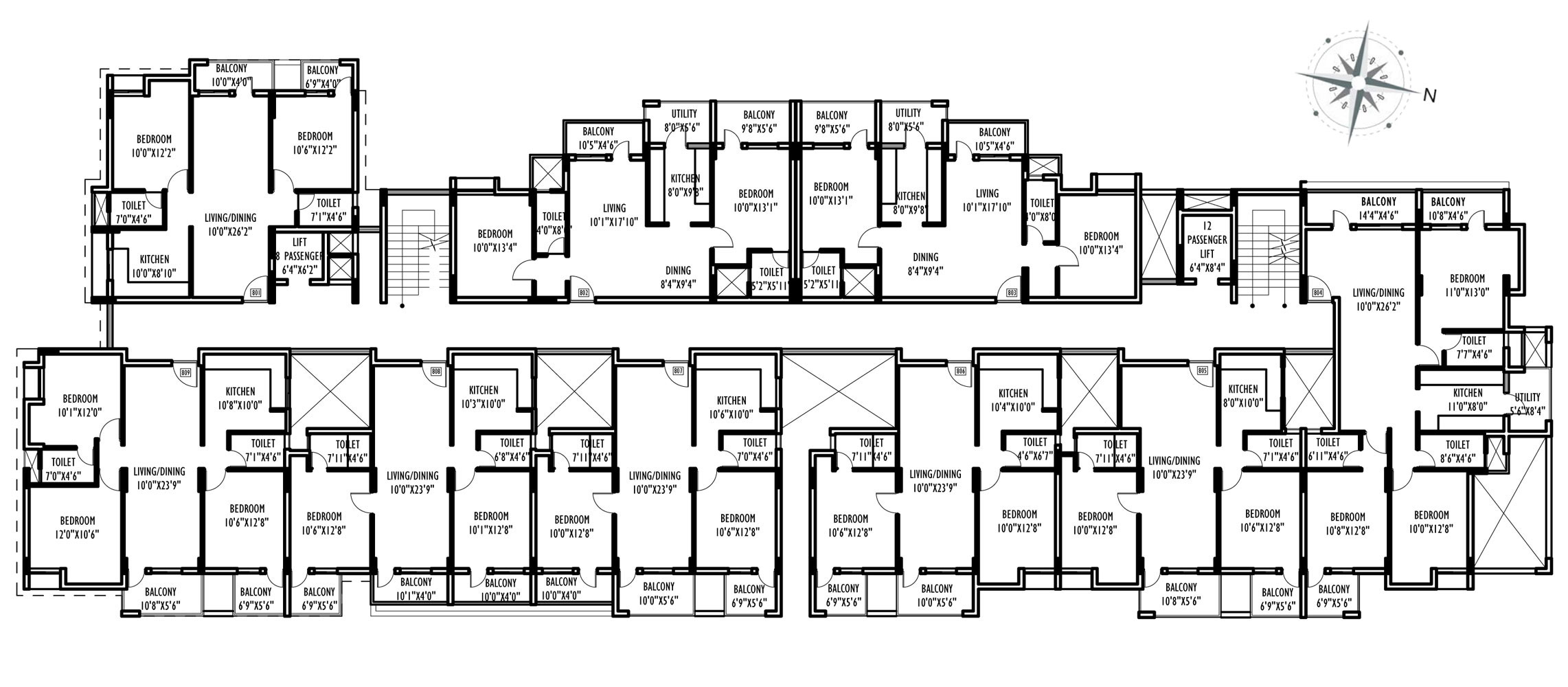 Willows residences near cambridge international school for Floor plan project